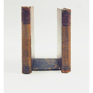 19th Century Leather Book Bookends - a Pair Preview