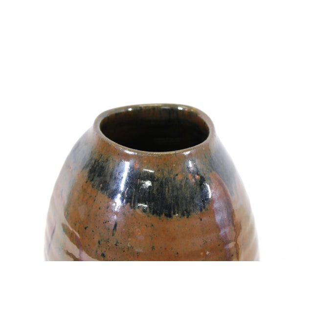 Japanese Mid-Century Modern Studio Pottery Vase For Sale In New York - Image 6 of 9