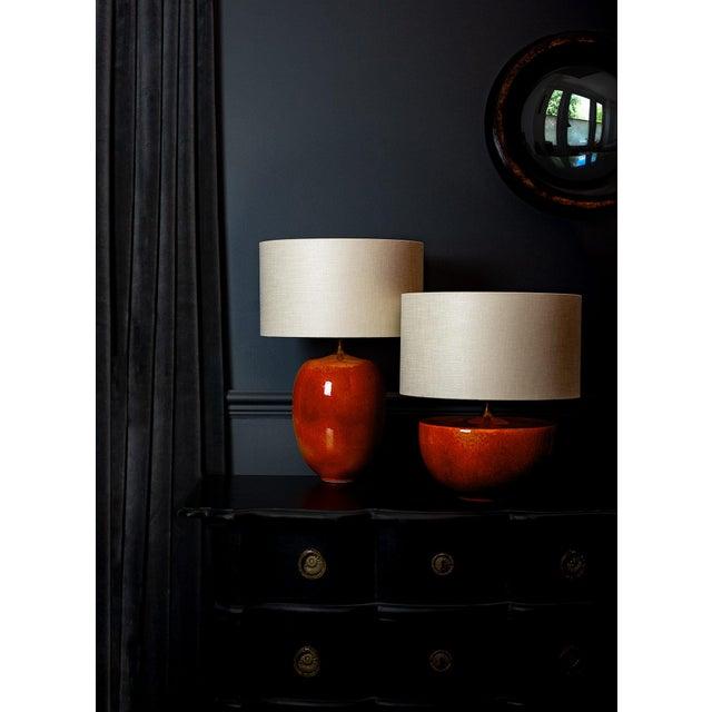 Fuji Ceramic Glaze Table Lamp For Sale - Image 4 of 6