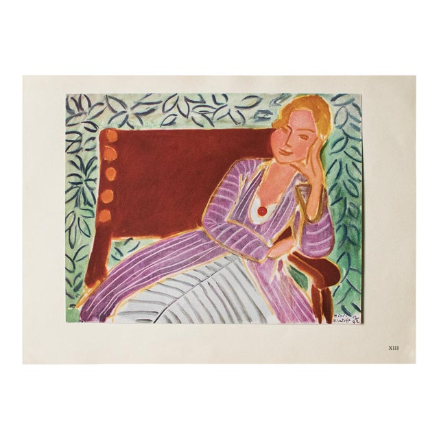 "1946 Henri Matisse, ""Girl in the Persian Dress"" Parisian Lithograph/Pablo Picasso Collection For Sale"