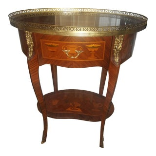 Antique Oval Inlaid Table For Sale