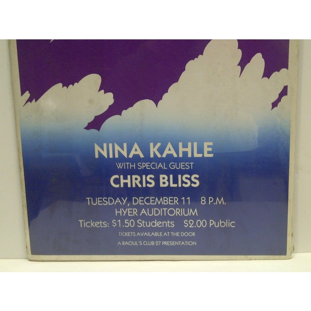 Vintage Nina Kahle Concert Poster For Sale - Image 4 of 4
