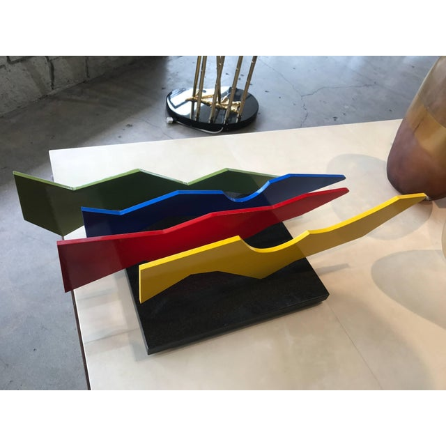 1960s Lia DI Leo Sculptor to the Stars Vibrant Aluminium and Marble Sculpture For Sale - Image 5 of 8