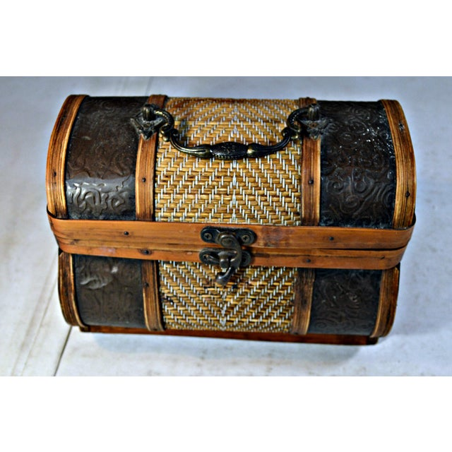 Brass & Wood Coffer for Cigars - Image 3 of 7