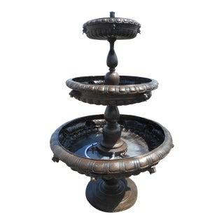 Bronze Three-Tier Fountain For Sale