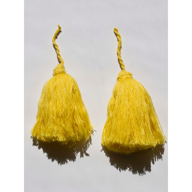 This is a lovely pair of handmade Moroccan yarn tassels in yellow. There are 10 available. If you are interested in...