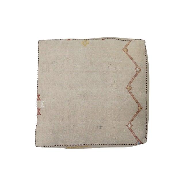 'Alpine' Beige Moroccan Floor Pillow For Sale