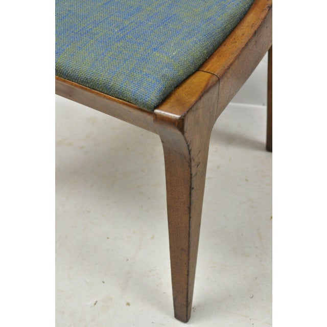 Mid 20th Century Drexel Dateline John Van Koert Walnut Mid Century Modern Dining Side Chair (A) For Sale - Image 5 of 12