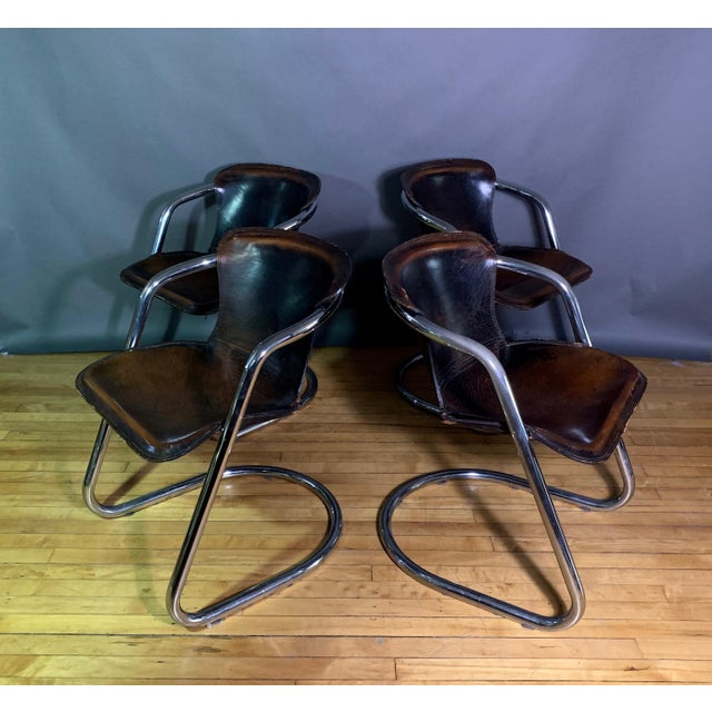 Vintage Willy Rizzo Dining Chairs for Cidue, Italy 1970s For Sale - Image 13 of 13