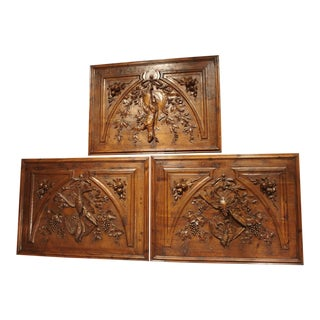 Set of Three Bas Relief Overdoor Panels From France, Circa 1860 For Sale