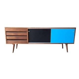 Mid-Century Style Custom Credenza For Sale