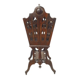 Eastlake Style Victorian Rosewood Magazine Rack For Sale