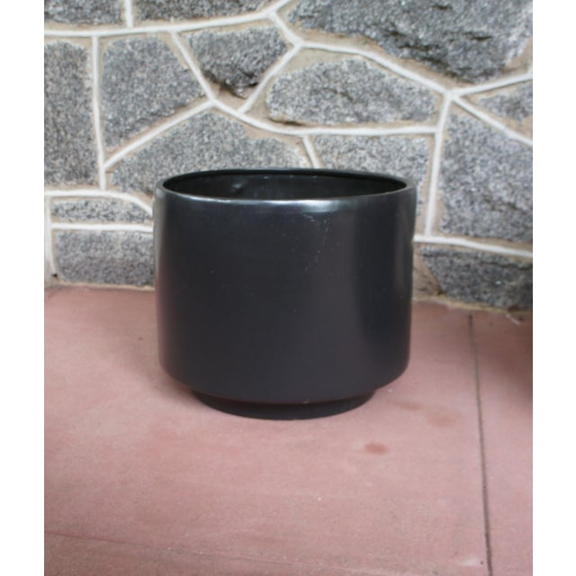 Gainey Style Graphite Gray Planters - A Pair - Image 5 of 9
