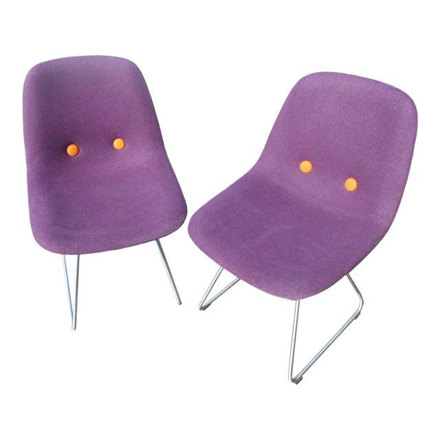 Erik Jorgensen Ej2-W Designer Side Chairs - a Pair For Sale