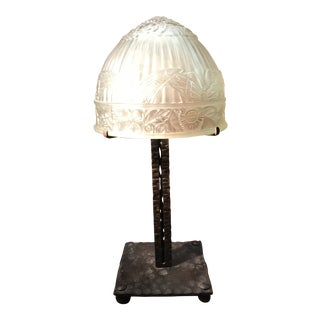 1920s Muller Freres French Art Deco Table Lamp For Sale