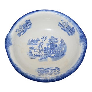 Vintage Chinese Blue & White Wash Bowl