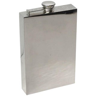 Prohibition Era Sterling Silver Oversized Flask