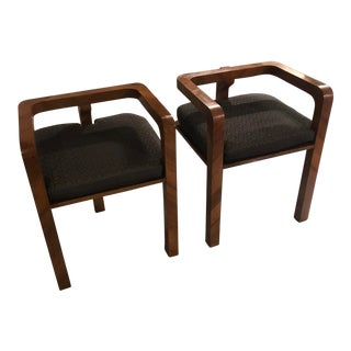 1930s Vintage French Backless Stools - a Pair For Sale