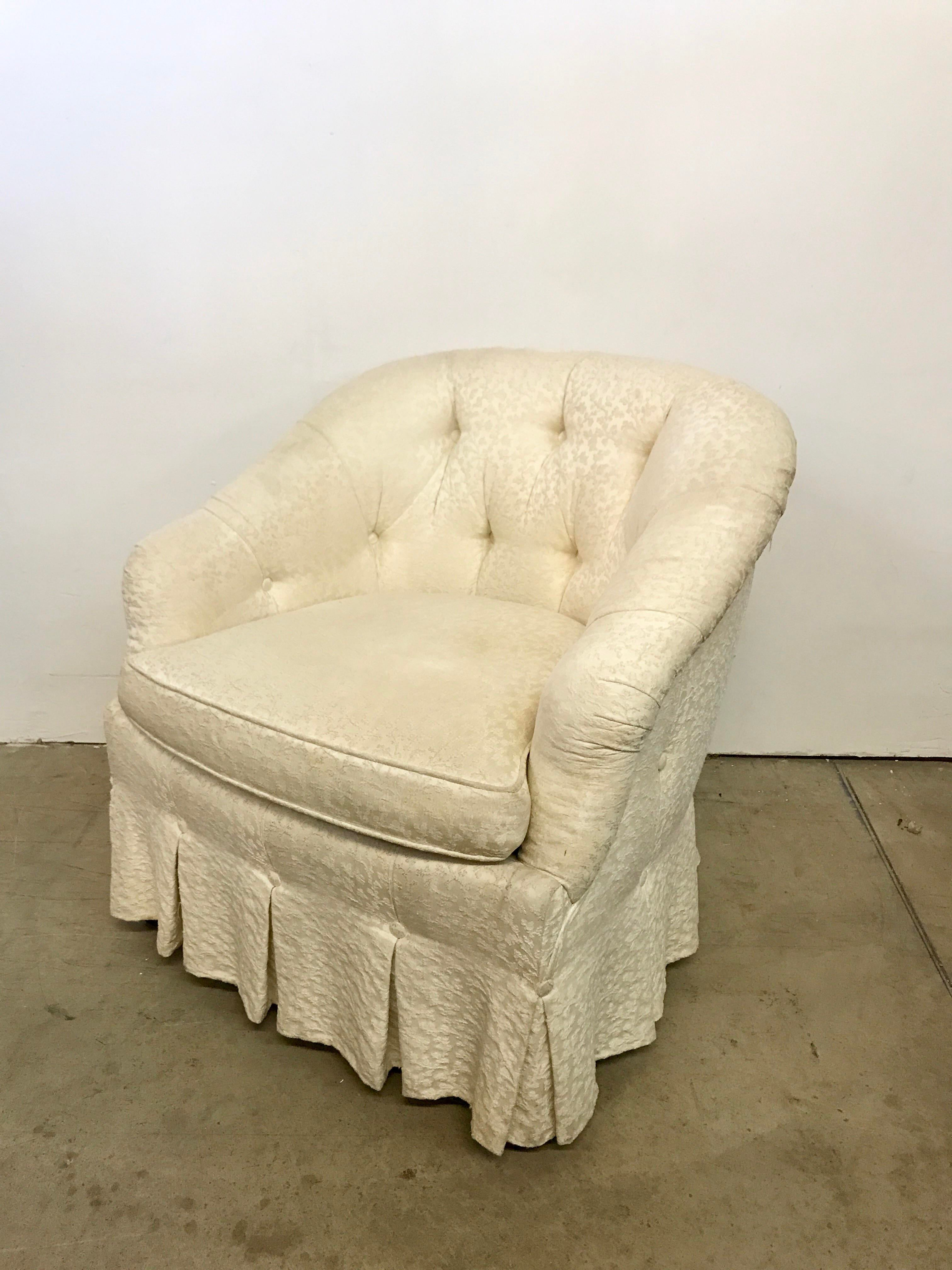 Baker Vintage Button Tufted Tub Chair   Image 2 Of 11
