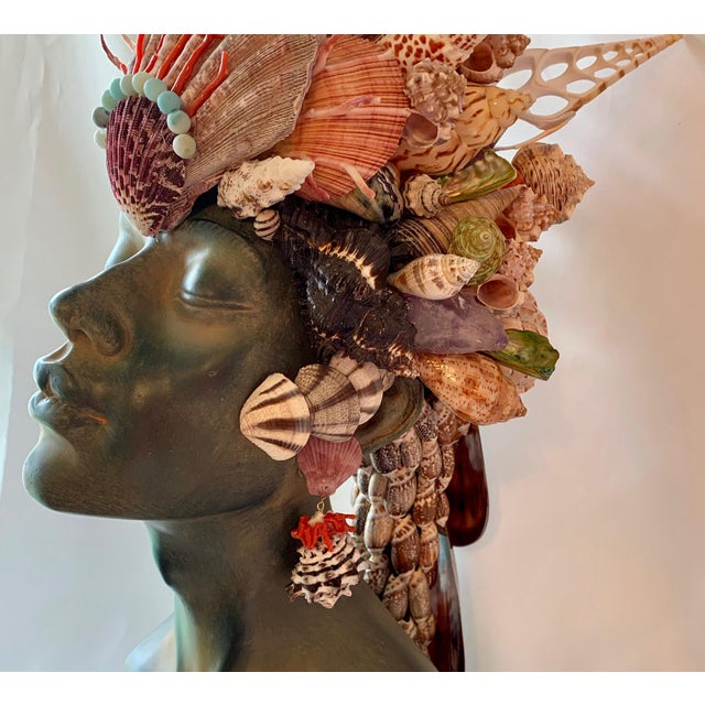 Contemporary Memsaab Ungawa Ll African Princess Sculpture For Sale - Image 3 of 8