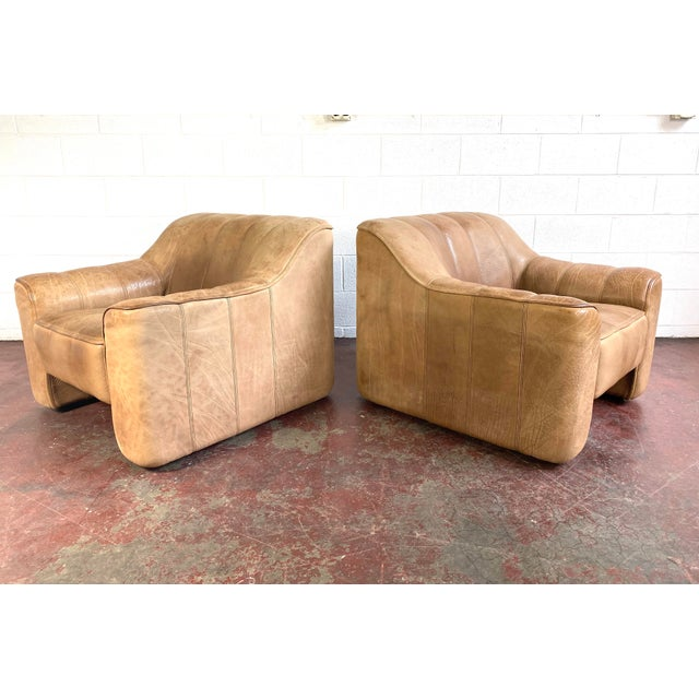 Brown De Sede Leather Lounge Chairs Model Ds 44 - a Pair For Sale - Image 8 of 8