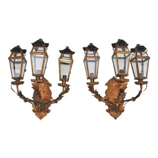 Italian Outdoor/Indoor Sconces - A Pair For Sale