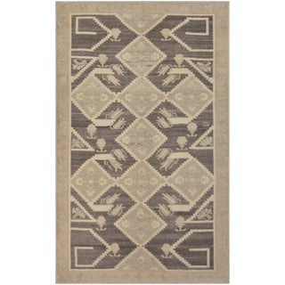 Mansour Fine Handmade Turkish Rug - 4′9″ × 7′10″ For Sale