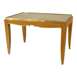 French Art Deco Sycamore Rectangular Coffee Table For Sale