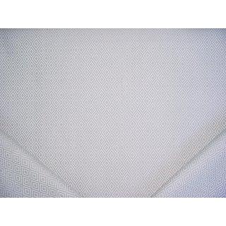 Schumacher Sofia Diamond Fog Linen Cotton Upholstery Fabric - 14 1/2 Yards For Sale
