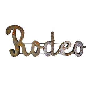 Metal Rodeo Wall Sign For Sale