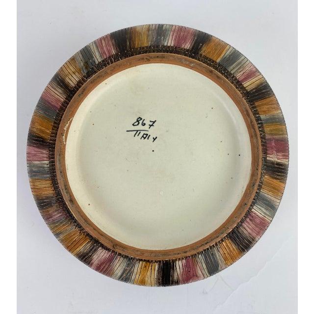Aldo Londi Bitossi Multi Color Pastel Seta Bowl With Gold Accents For Sale - Image 4 of 6