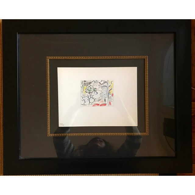 Roy Lichtenstein Professionally Framed Limited Edition Off-Set Lithograph Numbered 47/100 - Image 4 of 6