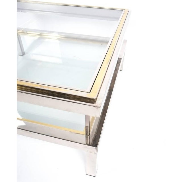 Refurbished Maison Jansen Brass and Chrome Coffee Table with Interior Display For Sale - Image 6 of 8