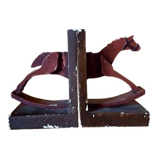 Vintage Horse Bookends - A Pair