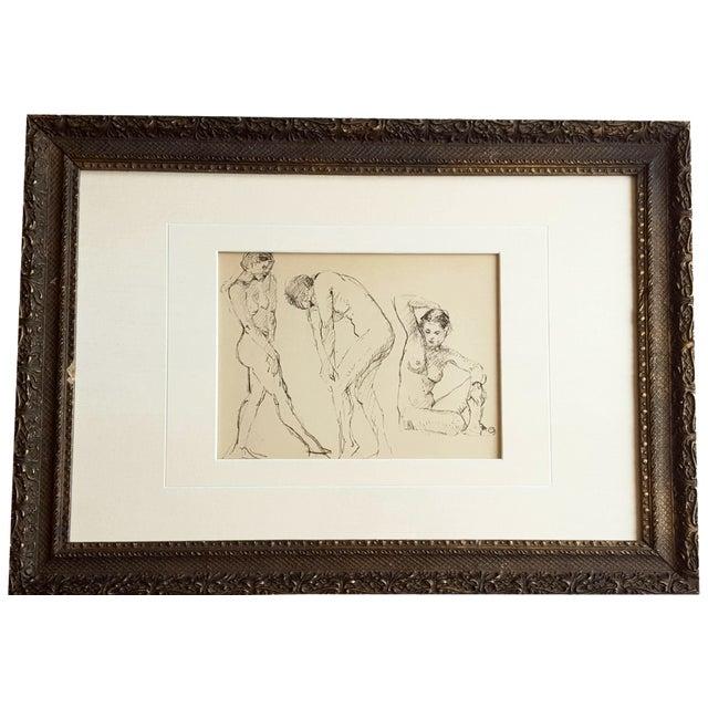 Female Nude Sketch by Edward Goldman - Image 1 of 3