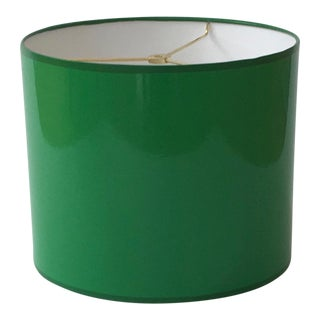 Large Kelly Green Drum Lamp Shade For Sale