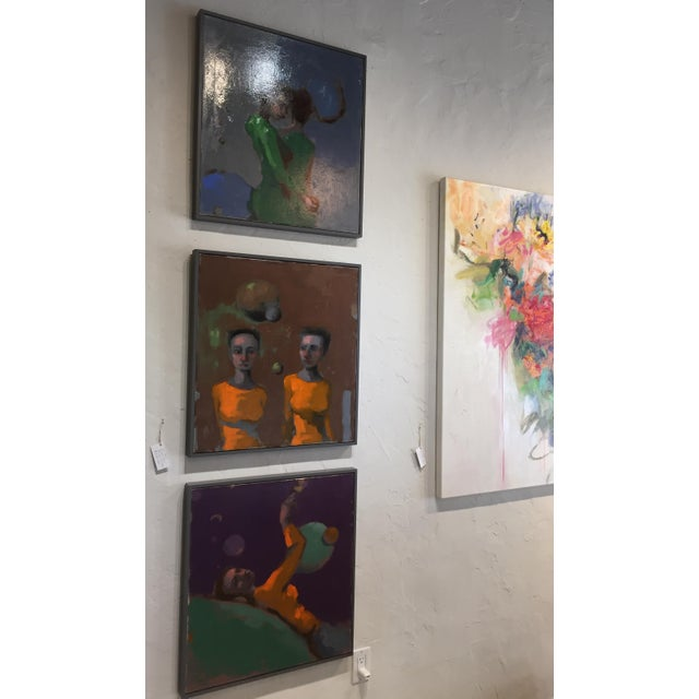 Traditional techniques and figurative exploration are Cherres hallmarks. Hand mixed oil paints and multiple layers produce...