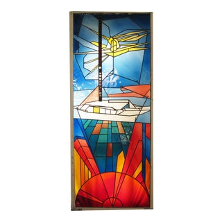 Jackson Hall Art Glass Stained Glass Panel For Sale