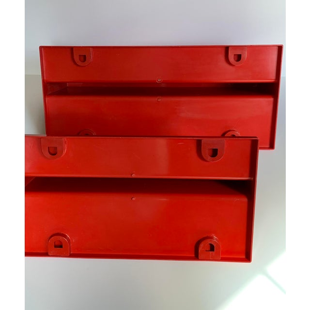 Vintage Kartell Plastic Shelves-a Pair For Sale - Image 11 of 12