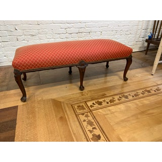 Mid 20th-Century Cabriole Leg Custom Fabric Bench Preview