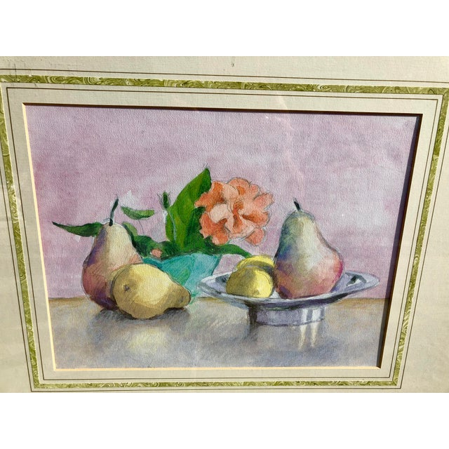 Still Life Watercolor of Fruit For Sale - Image 4 of 10
