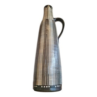 Stoneware Handle Vase by Piesche & Reif (a.k.a. V E B Lausitzer) For Sale