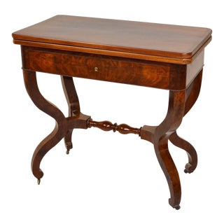 Traditional Louis Philippe Card Table For Sale