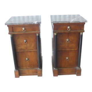19th Century French Empire Nightstands From a Parish Hadley Interior - a Pair For Sale