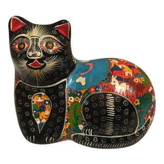 Vintage Hand Painted Mexican Cat