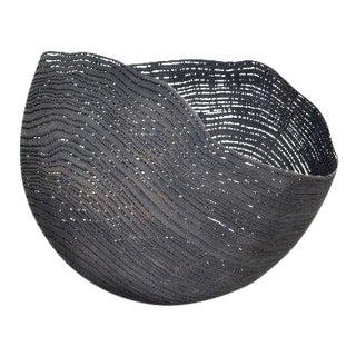 Contemporary Pascal Oudet Large Black Bowl For Sale