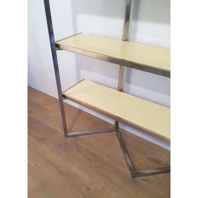 Chrome and Egg Shell Lacquered Etagere - Image 4 of 11
