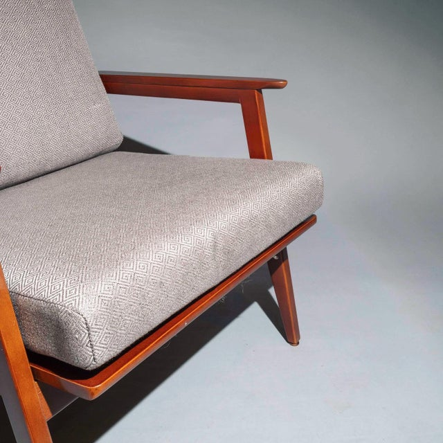 1940s Vintage Mid Century Lounge Arm Chairs - a Pair For Sale - Image 5 of 7