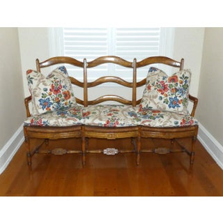 French Country Triple Rush Seat Settee Preview