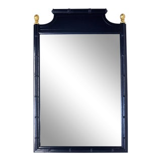 Faux-Bamboo Wall Mirror For Sale